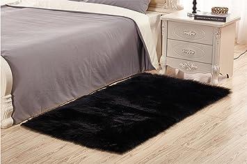 Amazonde Sweetwill Faux Lammfell Schaffell Teppich 50 X 150 Cm Modern Wohnzimmer Flauschig