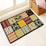 Story@Home Designer Abstract Pattern Super Soft Anti Skid Dust Remover Door Mat for Home, Kitchen and Office -(Multi, 40cm X 60cm)