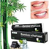 Aktivkohle Zahnpasta - Schwarze Zahnpasta - Natürlich - Zähne Weisser Machen - Zahnpasta ohne Fluorid - Whitening Toothpaste - Mint Flavour - für Empfindliche Zähne(Bambuskohle)