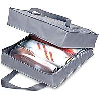 Domopak Living Porte Chaussures 6 Paires, Polyester, Gris, 36 x 36 x 17 cm