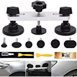Manelord Auto Body Paintless Dent Repair Tool, Sliver Bridge Dent Puller with 7Pcs Puller Tabs for Car Dent Removal…