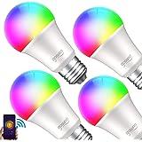 Gosund Alexa Lampe Wlan Dimmbare Lampe,E27 Mehrfarbige Glühbirne Kompatibel mit Amazon Alexa und Google Home…