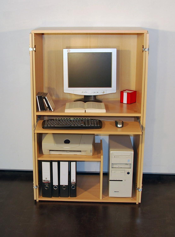 PC-Schrank Computerschrank - buche - in 2 Größen erhältlich (132 ...