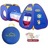 Peradix Tente de Jeu et Tunnel 3 en 1 Pop Up Tente pour Enfant et bébé Tente de thème Spatial pour Bebe nvient aux Jeux d'intérieur et d'extérieur