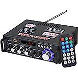 eSynic 300W+300W Amplificador de Audio Estéreo Bluetooth con Control Remoto Amplificador de Audio Digital Portátil de Alta Fi