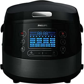 Philips HD4749/77 Multicuiseur Viva avec 22 programmes, Céramique/Plastique Noir/Métal 5 L