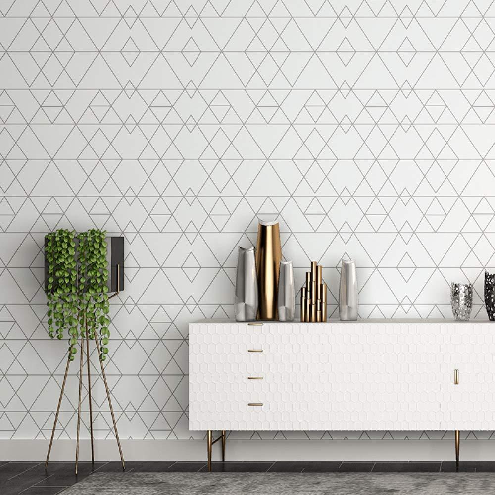 Ins fondo de pantalla moda triángulo enrejado moderno ropa minimalista sala  comedor dormitorio papel pintado de estilo nórdico color 53cm*10m - 2020 ...