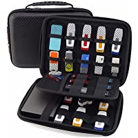 GUANHE Universial Portable Waterproof Shockproof Electronic Accessories Organizer Holder USB Flash Drive Case Bag (Black)