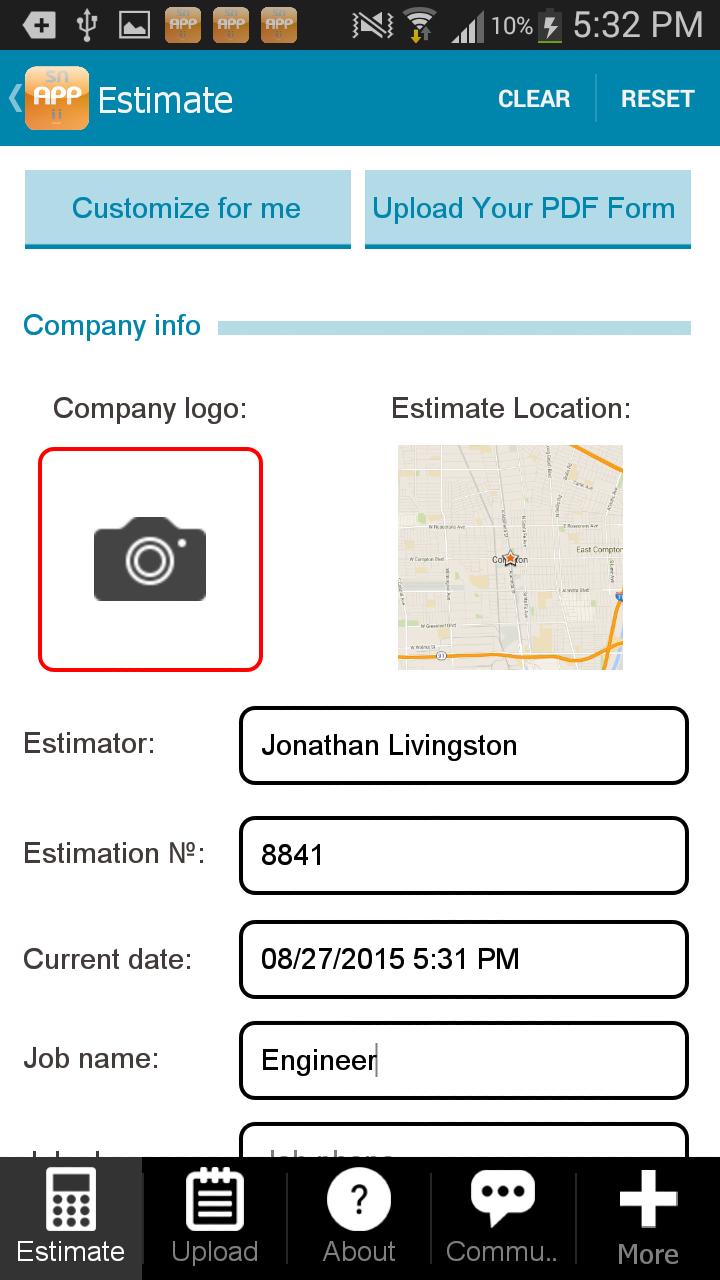 Construction estimator app appstore pour android for Application construction maison android