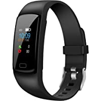 Helix Gusto 2.0 Black Fitness Band with Colored Display, HRM, SOS, Music Control, Message and Call Notification Digital…