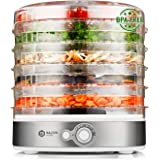 Balter Seco Dörrgerät 500 W mit Temperaturregler von 35-70°C 5 höhenverstellbare Etagen Dörrautomat Dörrgerät Obsttrockner Dörrapparat Temperatureinstellung BPA Frei