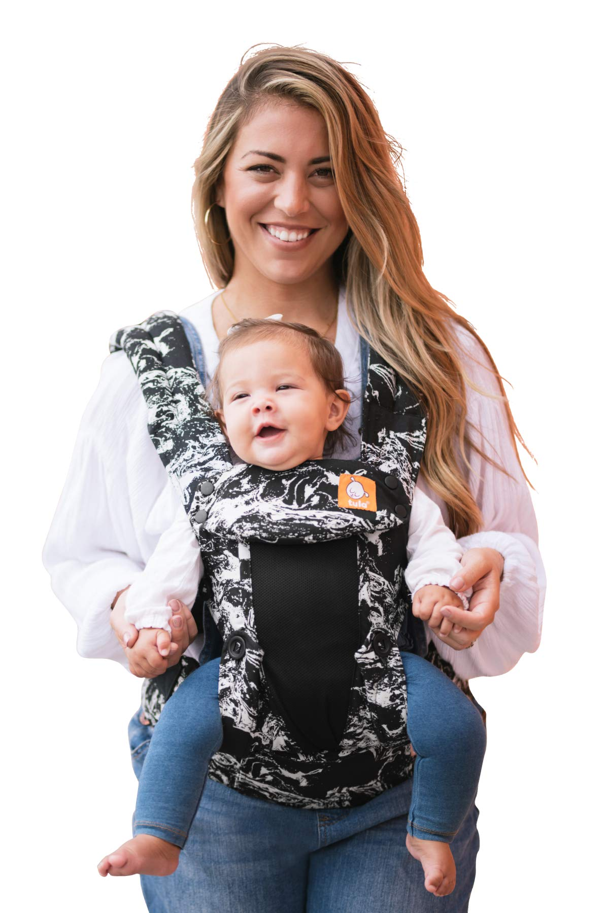Baby Tula Coast Explore Mesh Baby Carrier 3.2 - 20.4 kg, Adjustable Newborn to Toddler Carrier, Multiple Ergonomic Positions Front/Back, Breathable - Coast Marble, Black/White Marble with Black Mesh Tula STAY COOL MESH CARRIER PANEL: Large mesh panel provides extra ventilation for optimal breathability to keep wearer and baby cool. BREATHABLE & LIGHTWEIGHT MATERIAL: Soft and lightweight 100% cotton with a large breathable mesh panel and hood that's easy to clean and machine washable. EVERY CARRY POSITION YOUR BABY WILL NEED, INCLUDING FACING OUT: Multiple positions to carry baby including front facing out*, facing in, and back carry. Each position provides a natural, ergonomic position best for comfortable carrying that promotes healthy hip and spine development for baby. 1