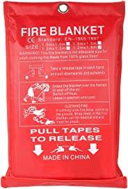 KKmoon Fiberglass Fire Blanket For Emergency Survival Fire Fighting Shelter Safety Shield 1.2Mx1.8M 1.2Mx1.8M