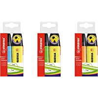 Highlighter - STABILO BOSS ORIGINAL Yellow Wallet of 2