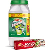 Dabur Glucose -D Energy Boost with Vitamin D - 1 Kg with Dabur Red Paste 200 g Free