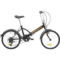 """F.lli Schiano Pure Vélo Pliable Unisexe pour Adulte Noir/Orange 20"""""""