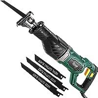 Scie Sabre, TECCPO Professional 1050W Scie Alternative 240V avec 2500 SPM, Profondeur de Coupe: 150mm (Bois), 5mm (Métal…