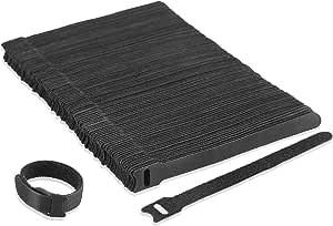 Klettverschluss Nylon Kabelbinder Kabel Klettband Pc Tv Usb Wiederverwendbar Befestigungsbinder 100 Stück Baumarkt