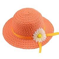 YUEMING Cappello di Paglia della Ragazza, Cappello del Sole dei Bambini, Cappello di Paglia del Cappello di Estate del…