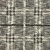 Fabulous Fabrics Strickstoff Karomuster schwarz/Weiss -