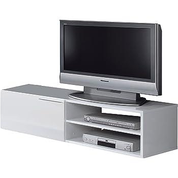 64d1189d44f12a Générique Kikua Meuble TV 130Cm Blanc Brillant - Couleur   Blanc ...