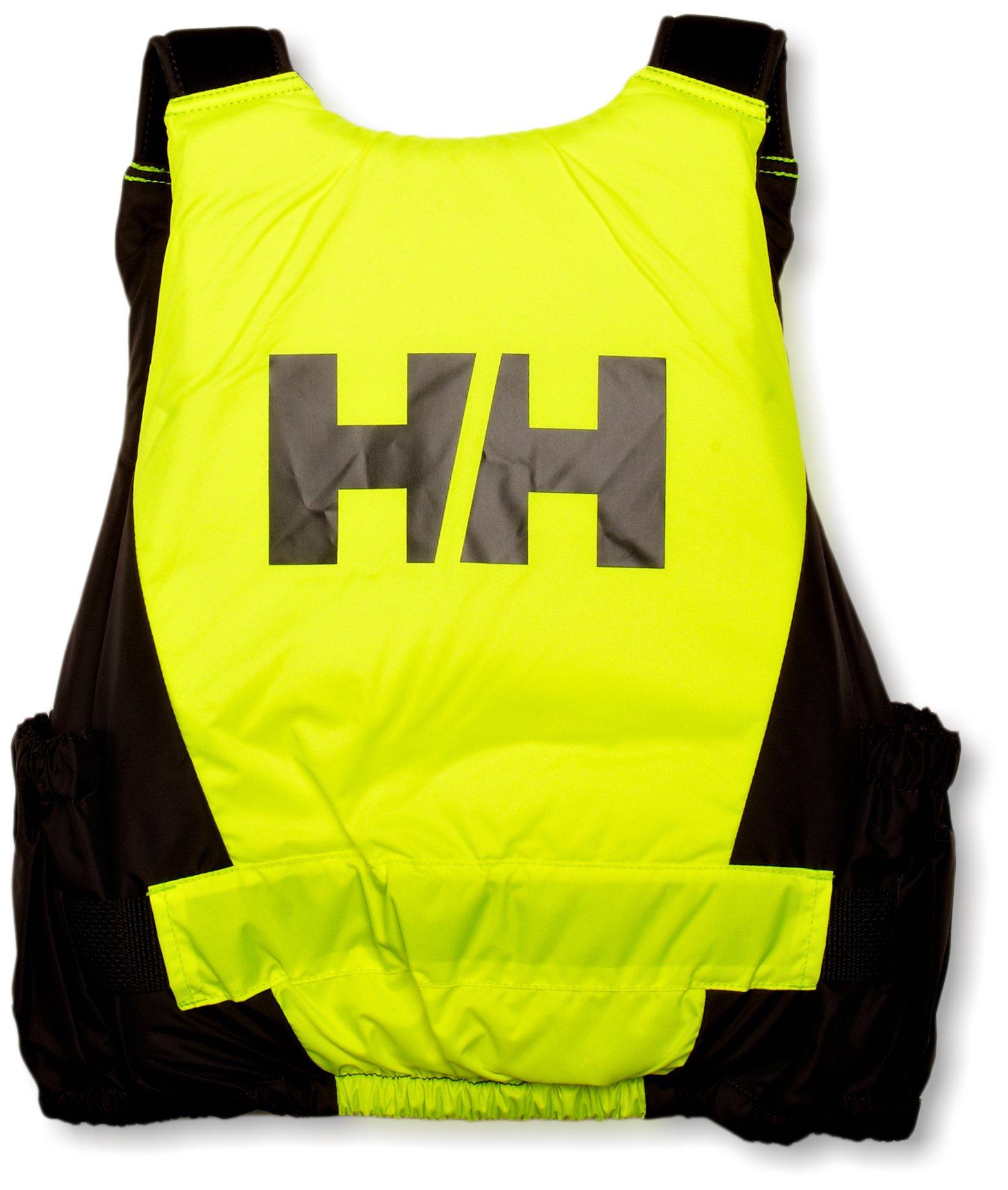 Helly Hansen 50N Rider Vest Top Kayak Dinghy Sailing PFD Buoyancy Aid for Watersports Fluro Yellow - Unisex Low bulk