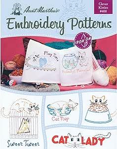 /über 25 Muster zum Aufb/ügeln Bauernhof 1 Pack Bauernhof Aunt Marthas Designs Stickmusterbuch