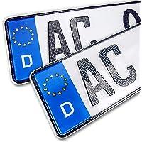 schildEVO 2 Carbon Kfz Kennzeichen   520 x 110 mm   OFFIZIELL amtliche Nummernschilder   DIN-Zertifiziert – EU…