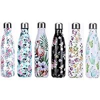 YCTECH Bottiglia Acqua in Acciaio Inox 500ml, Portatile Senza BPA Bottiglia, Borraccia Termica Isolamento Sottovuoto a Doppia Parete, Adatto per Scuola, Sport, All'aperto, Yoga