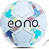 Marca Amazon - Eono - Balón de fútbol Blanco y Rosa de Piel sintética, tamaño Oficial 5 para Interiores y Exteriores, Pelota
