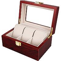 Présentoir Boîte Coffret à Montre Bijoux Coffret de Rangement avec Serrure Ecrin Homme Femme en Bois