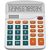 Helect Calculatrice, Fonction Standard Calculateur de Bureau (Blanc)