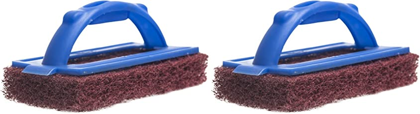 Gala Iron Bull Scrub Pad Set (Maroon and Blue, 2-Pieces)