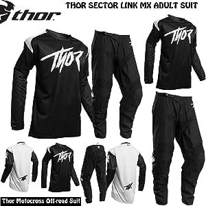 colore nero Thor MX Maglia da motocross per motocross colore: Nero//Bianco per adulti enduro per moto Raglan 2020 fuoristrada