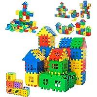 SaleOn 72pc DIY Puzzle House Blocks Building Blocks Education Toy Children Gift Brain Delvelopement Game Toy Non-Toxic…