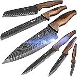 Wanbasion 6 Couteaux Professionnel Ensemble de Couteaux de Cuisine Chef, Couteaux de Cuisine, Jeu de Couteaux en Acier Inoxyd
