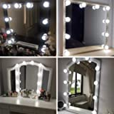 Vanity Mirror Lights Kits Hollywood Style LED Makeup Lights with 10 Dimmable Bulbs for Makeup Dressing Table with 5…