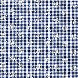 Fabulous Fabrics Seersucker Check Aster – Marineblau —