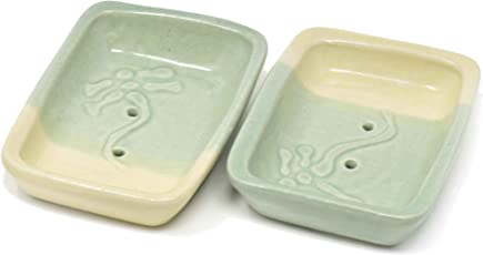 The Himalayan Goods Company - Stoneware Ceramic Handmade Soap Dish or Soap Trays or Soap Holders 5 x 3.5 inches