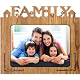 Xpression Decor Family Table Top Photo Frames Perfect for Office Table Decorations(5x7inch,Brown,Wood) (Family 1)