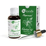 Naturalis Essence of Nature Peppermint Essential Oil 100% Undiluted Pure and Natural Therapeutic grade for Hair Growth, Skin,