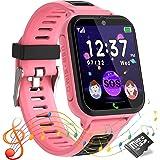 Smartwatch voor kinderen, telefoonhorloge voor jongen en meisje touchscreen met SOS-alarm, muziekspeler, 14 puzzelspel, zakla