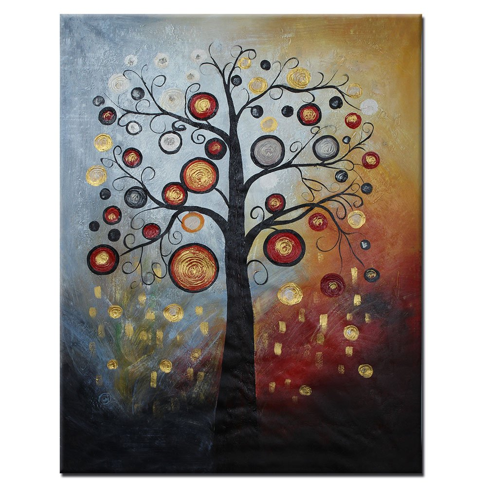 Wall art flower painting - Hand Painted Oil Paintings Modern Abstract Landscape Bright Spring Floral Flowers Wall Art Home Decor Decoration Amazon Co Uk Kitchen Home