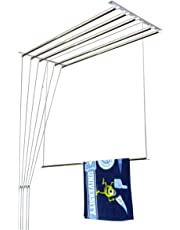 Homwell Deluxe Heavy Duty Stainless Steel Ceiling Cloth Hanger/Ceiling Cloth Dryer