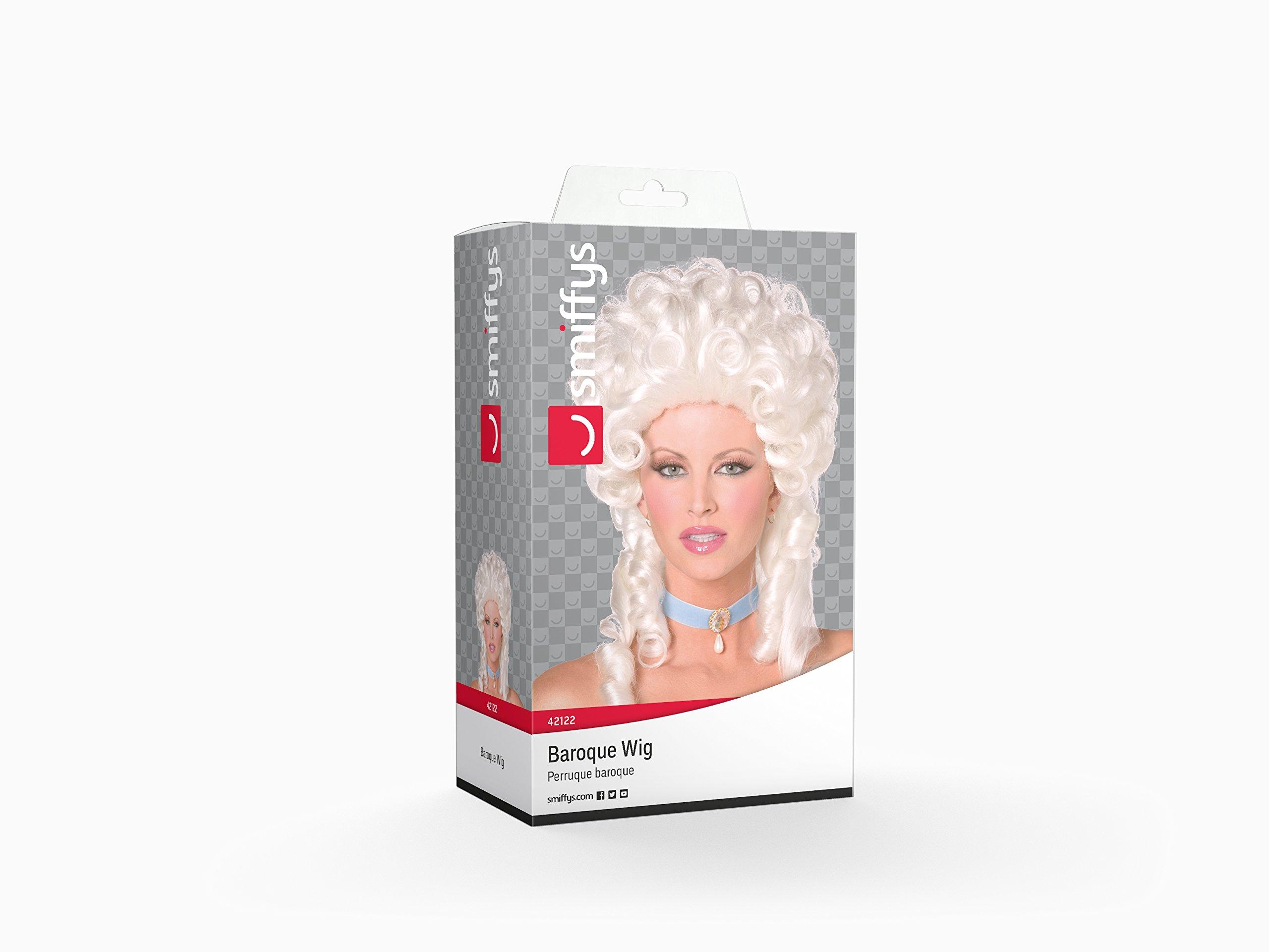 SMIFFYS Smiffy's-Parrucca barocca, bianca, lunghezza spalle con boccoli Donna, Taglia unica, 42122 2 spesavip