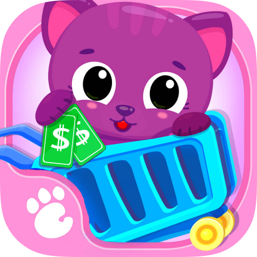 Cute & Tiny Supermarket - Baby Pets Go Shopping for Groceries & Toys - Girls Games Go