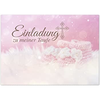 15 X Einladung Zur Taufeeinladungskarten Mit Umschlag Im Seteinladung Zu Meiner Taufe Baby Rosababy Taufkartegrußkartepostkarte