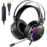 Tronsmart Cuffie da Gioco-Suono Surround 7.1-Cuffie Gaming per PS4-Glary-Cancellazione del Rumore Cuffie Over-ear con Microfo