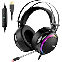 Tronsmart Cuffie da Gioco-Suono Surround 7.1-Cuffie Gaming per PS4-Glary-Cancellazione del Rumore Cuffie Over-ear con…