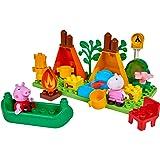 BIG- Bloxx PP Camping Peppa Pig - Set de Acampada (25 Piezas, para niños a Partir de 18 Meses), Color Verde, Naranja, Rojo, B